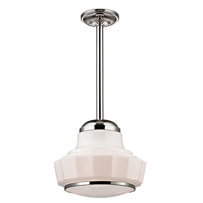 "Hudson Valley Lighting 3809 Odessa 1 Light 9"" Schoolhouse Pendant"