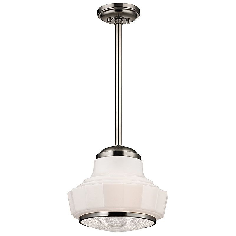 "Hudson Valley Lighting 3814 Odessa 1 Light 14"" Schoolhouse Pendant"