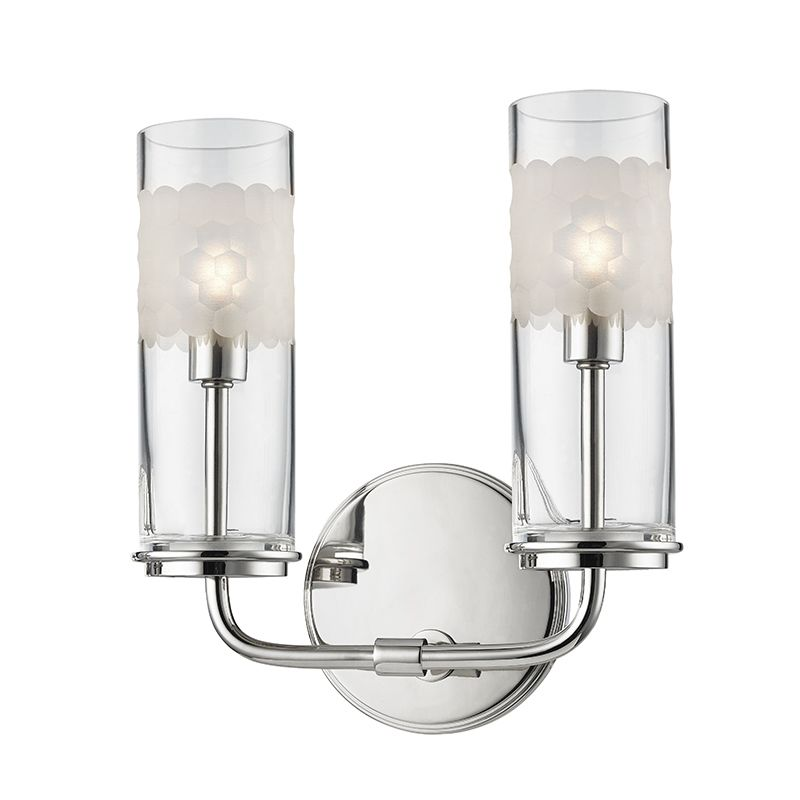 "Hudson Valley Lighting 3902 Wentworth 2 Light ADA Compliant 10"" Tall"