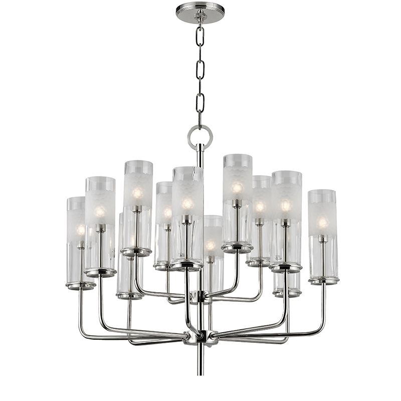 "Hudson Valley Lighting 3925 Wentworth 12 Light 24"" Tall Two Tier"