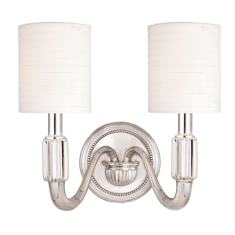 """Hudson Valley Lighting 402 Two Light 14.5"""" Wide Bathroom Fixture from"""