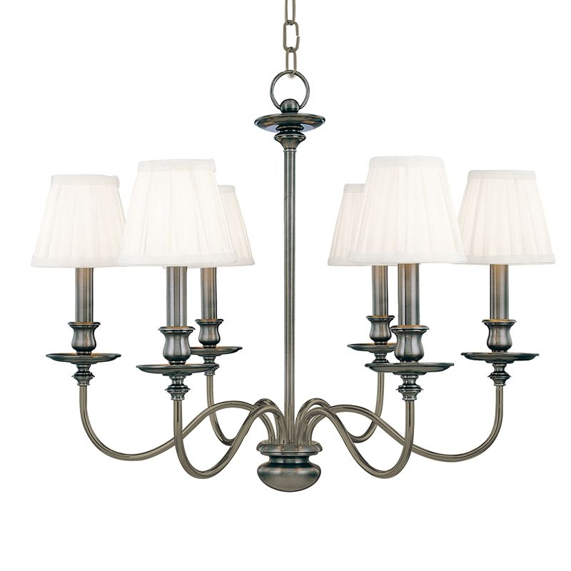 Hudson Valley Lighting 4036 Six Light Chandelier from the Menlo Park