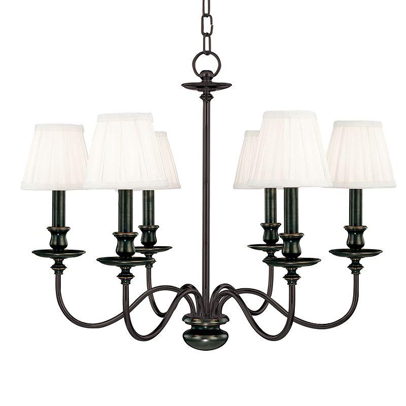 Hudson Valley Lighting 4036 Six Light Chandelier from the Menlo Park Sale $1178.00 ITEM#: 524828 MODEL# :4036-OB UPC#: 806134008475 :