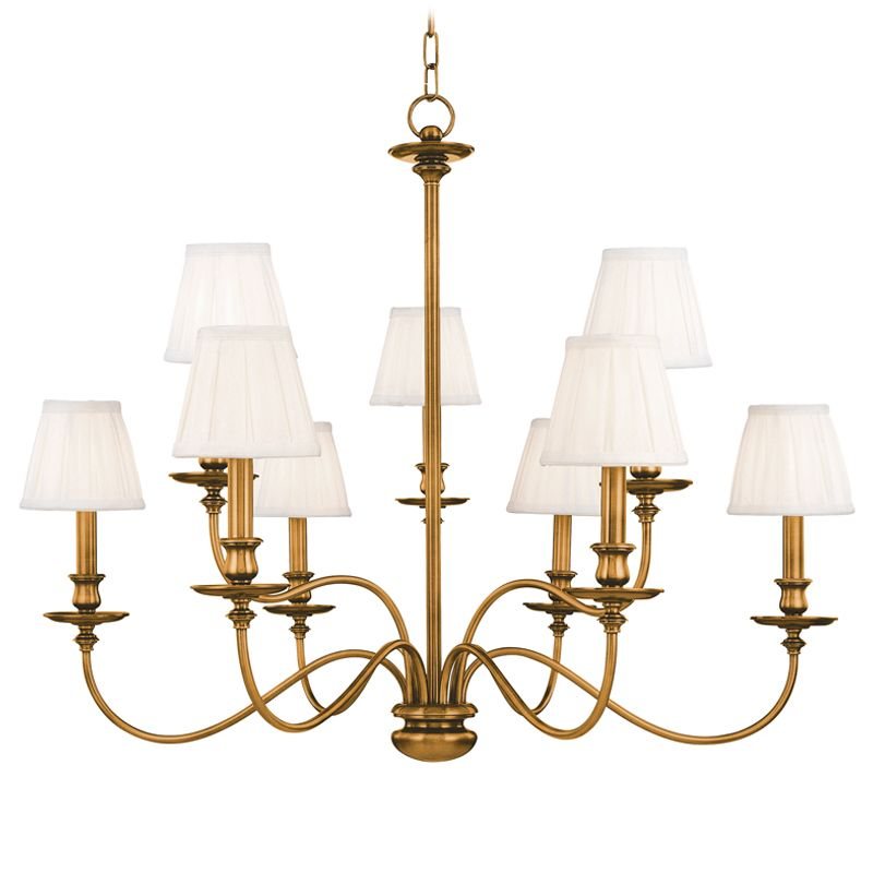 Hudson Valley Lighting 4039 Nine Light Chandelier from the Menlo Park