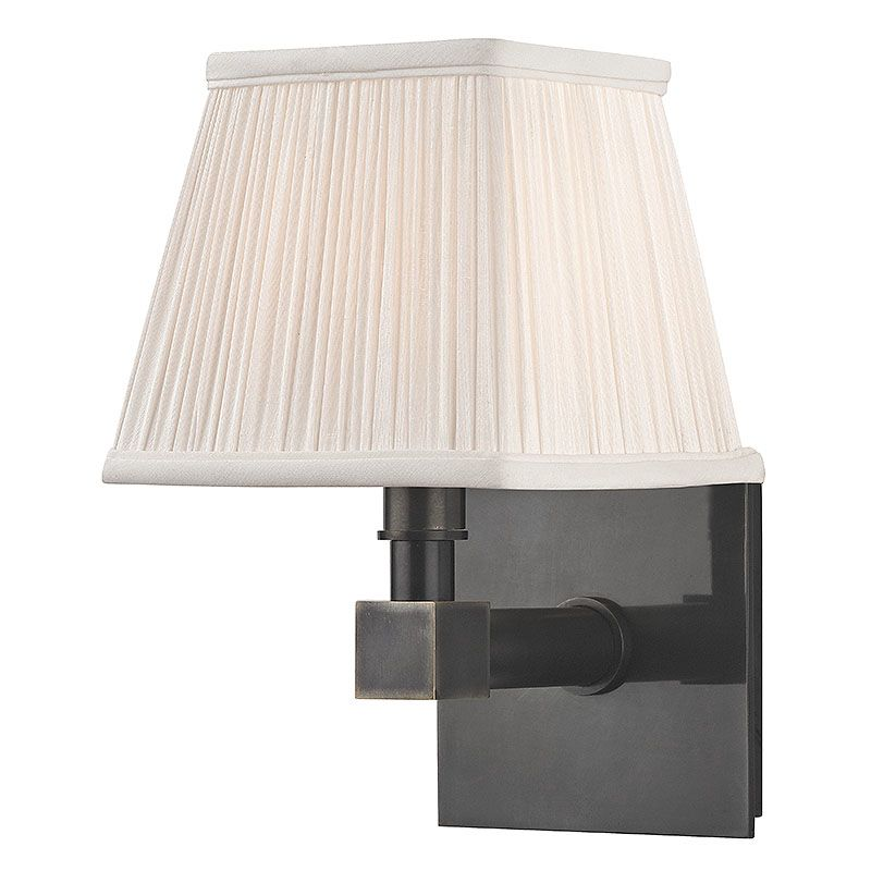 Hudson Valley Lighting 4041 Dixon 1 Light Wall Sconce with Pleated