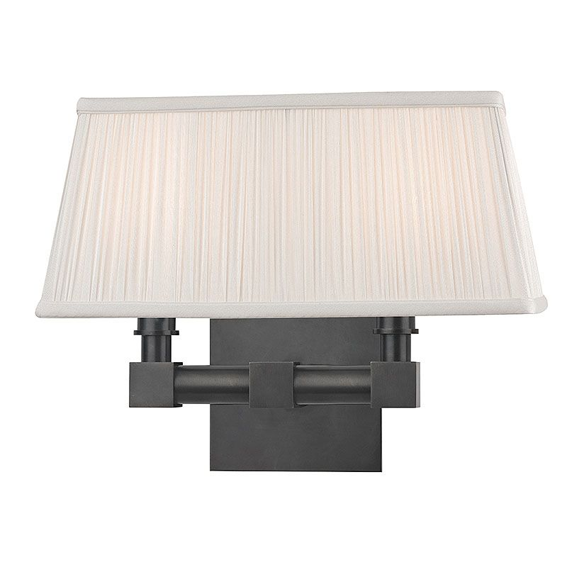 Hudson Valley Lighting 4042 Dixon 2 Light Wall Sconce with Pleated