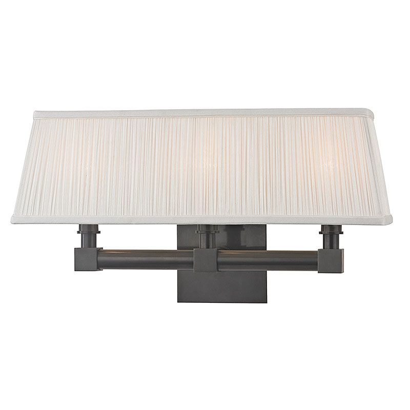 Hudson Valley Lighting 4043 Dixon 3 Light Wall Sconce with Pleated