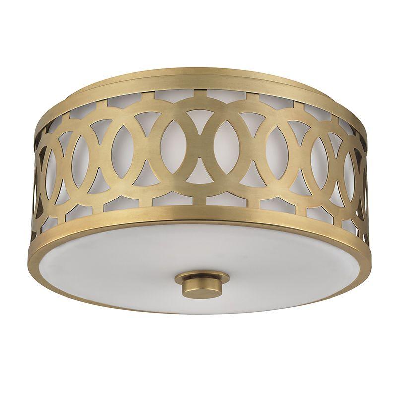 """Hudson Valley Lighting 4314 Genesee 2 Light 13"""" Flush Mount Ceiling Sale $450.00 ITEM#: 2680262 MODEL# :4314-AGB UPC#: 806134185770 :"""