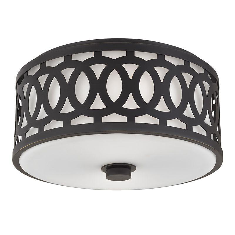 """Hudson Valley Lighting 4314 Genesee 2 Light 13"""" Flush Mount Ceiling Sale $450.00 ITEM#: 2680263 MODEL# :4314-OB UPC#: 806134185787 :"""