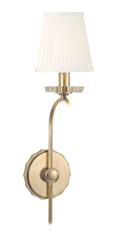 Hudson Valley Lighting 4481 Clyde 1 Light Wall Sconce Aged Brass Sale $278.00 ITEM#: 2295446 MODEL# :4481-AGB UPC#: 806134159931 :