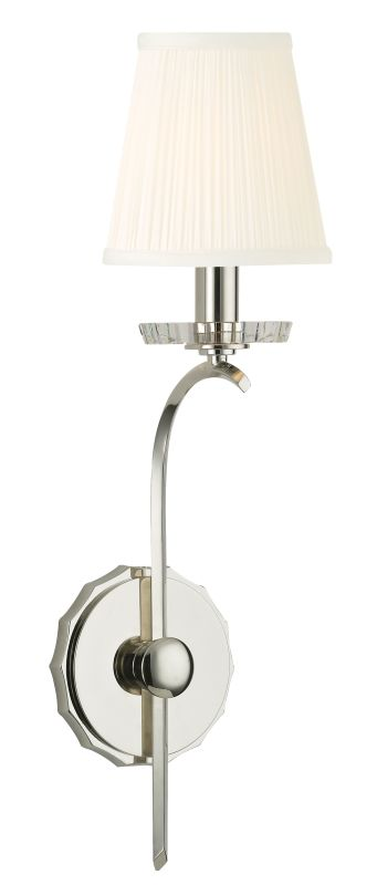 Hudson Valley Lighting 4481 Clyde 1 Light Wall Sconce Polished Nickel