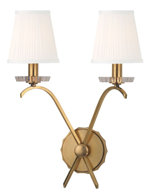 Hudson Valley Lighting 4482 Clyde 2 Light Wall Sconce Aged Brass