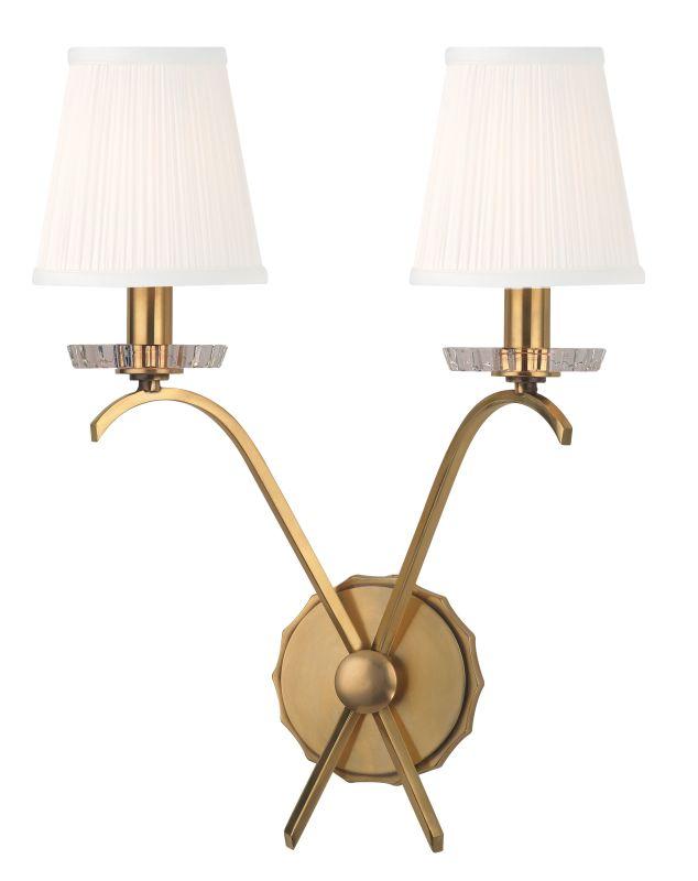 Hudson Valley Lighting 4482 Clyde 2 Light Wall Sconce Aged Brass