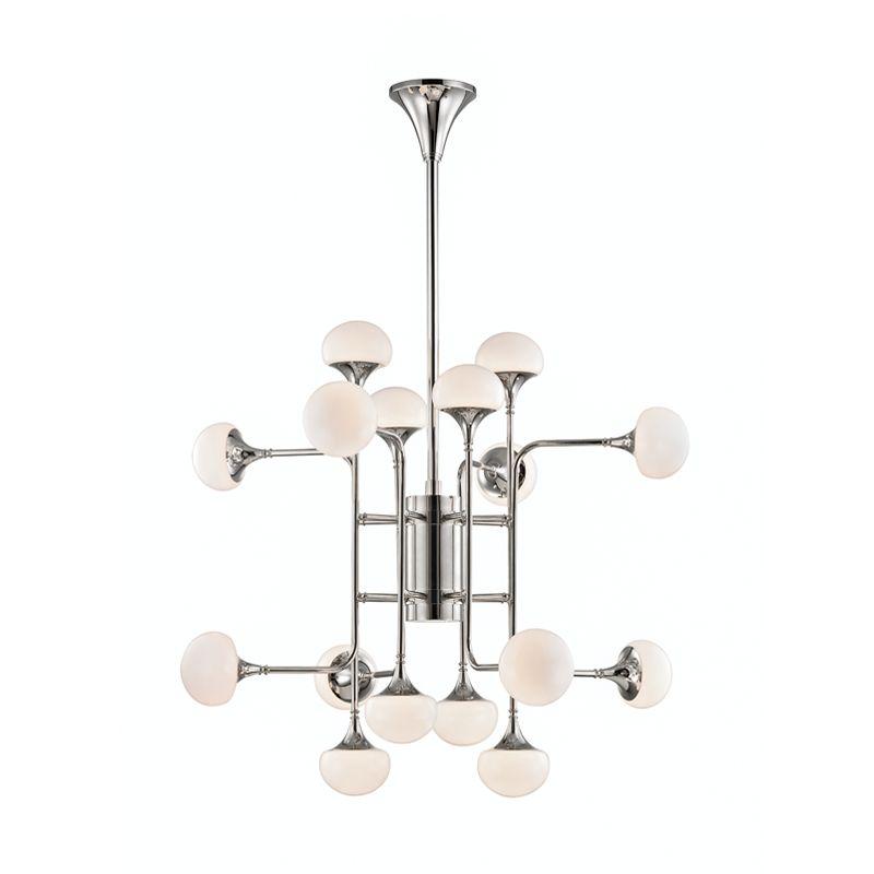 "Hudson Valley Lighting 4716 Fleming 16 Light 36"" Wide LED 2 Tier Sale $2350.00 ITEM#: 3006394 MODEL# :4716-PN UPC#: 806134797614 :"
