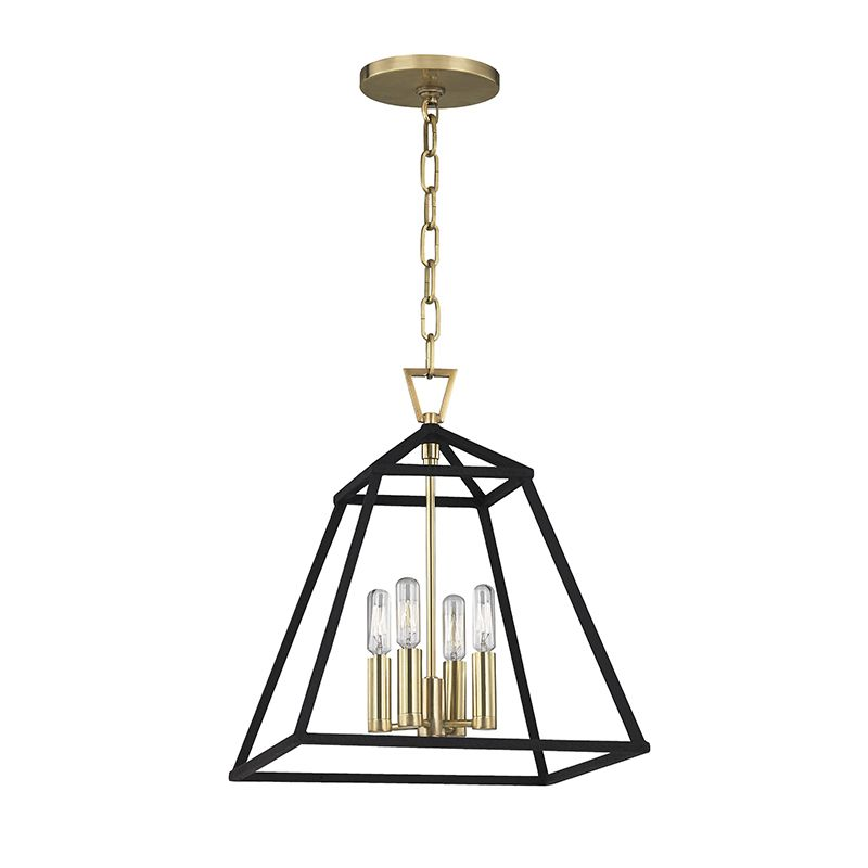 "Hudson Valley Lighting 4914 Webster 4 Light 14"" Pendant with Iron"