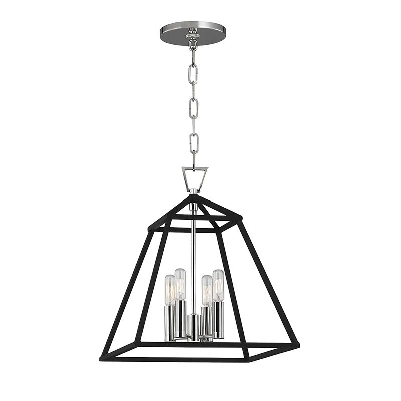 "Hudson Valley Lighting 4914 Webster 4 Light 14"" Pendant with Iron"