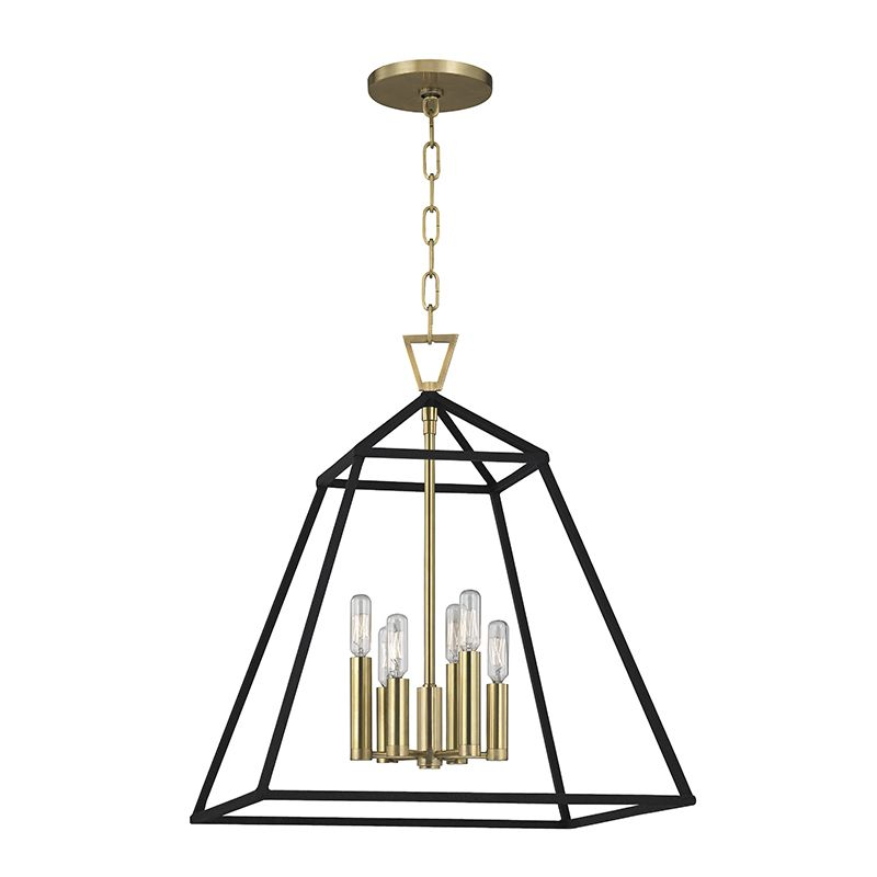 "Hudson Valley Lighting 4919 Webster 6 Light 19"" Pendant with Iron"