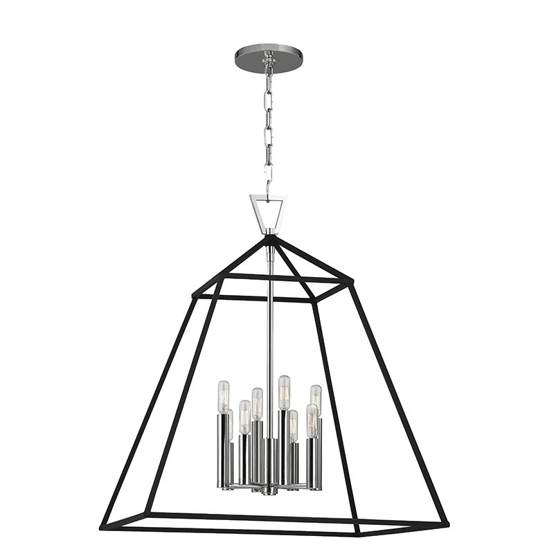 "Hudson Valley Lighting 4924 Webster 8 Light 24"" Pendant with Iron"
