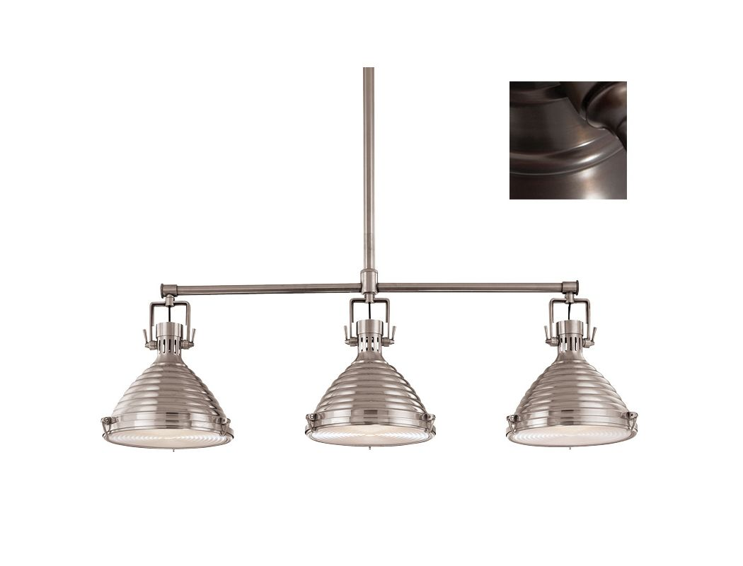 Hudson Valley Lighting 5123 3 Light Island Fixture from the Naugatuck