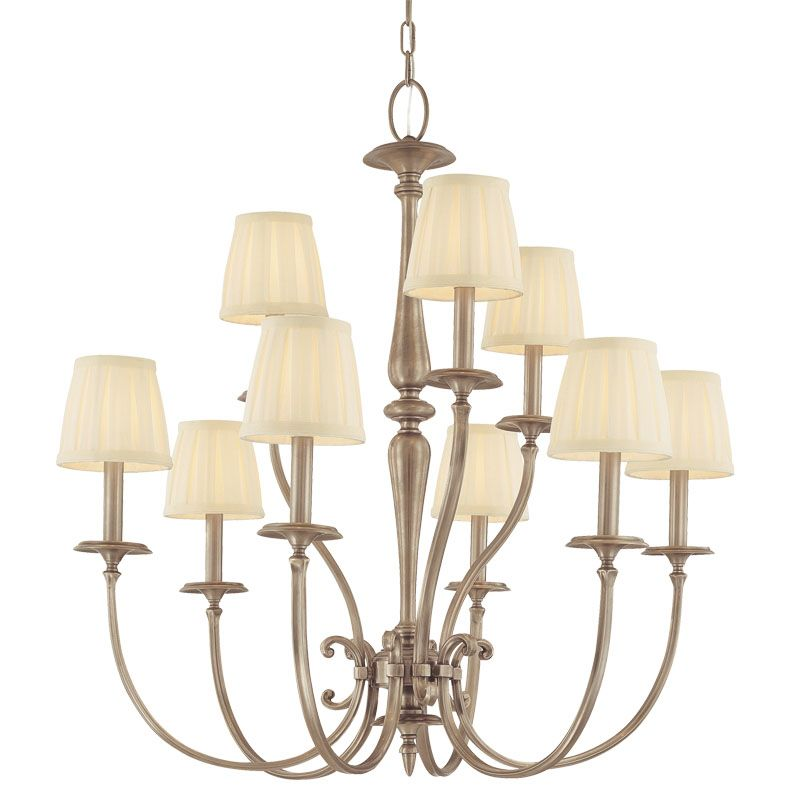 Hudson Valley Lighting 5219 Nine Light Chandelier from the Jefferson