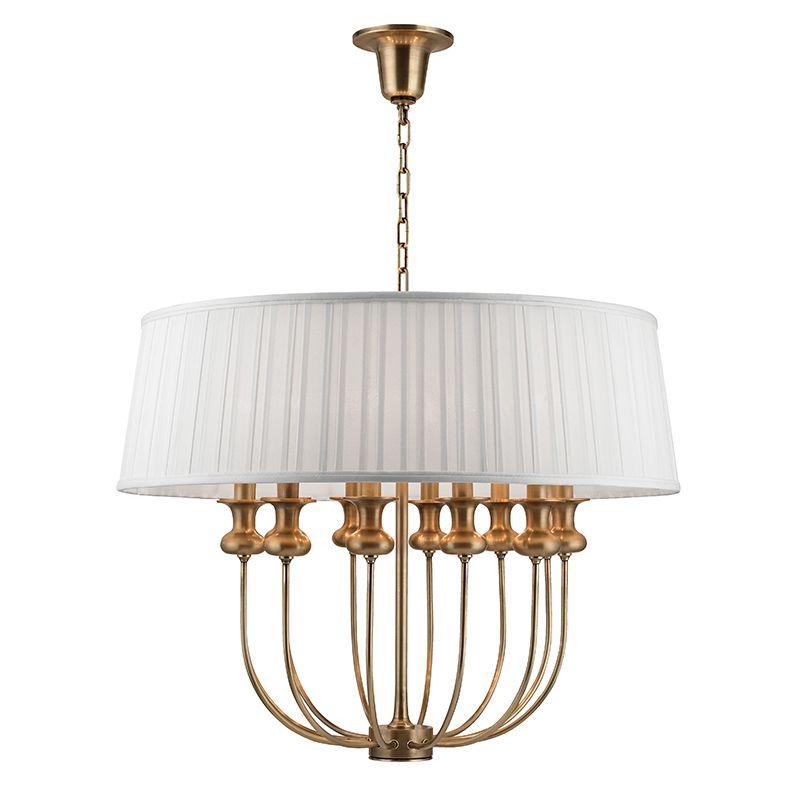 """Hudson Valley Lighting 5412 Pembroke 12 Light 28"""" Pendant with White"""