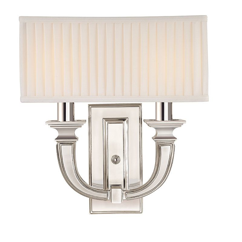 Hudson Valley Lighting 542 Two Light Up Lighting Brass Wallchiere