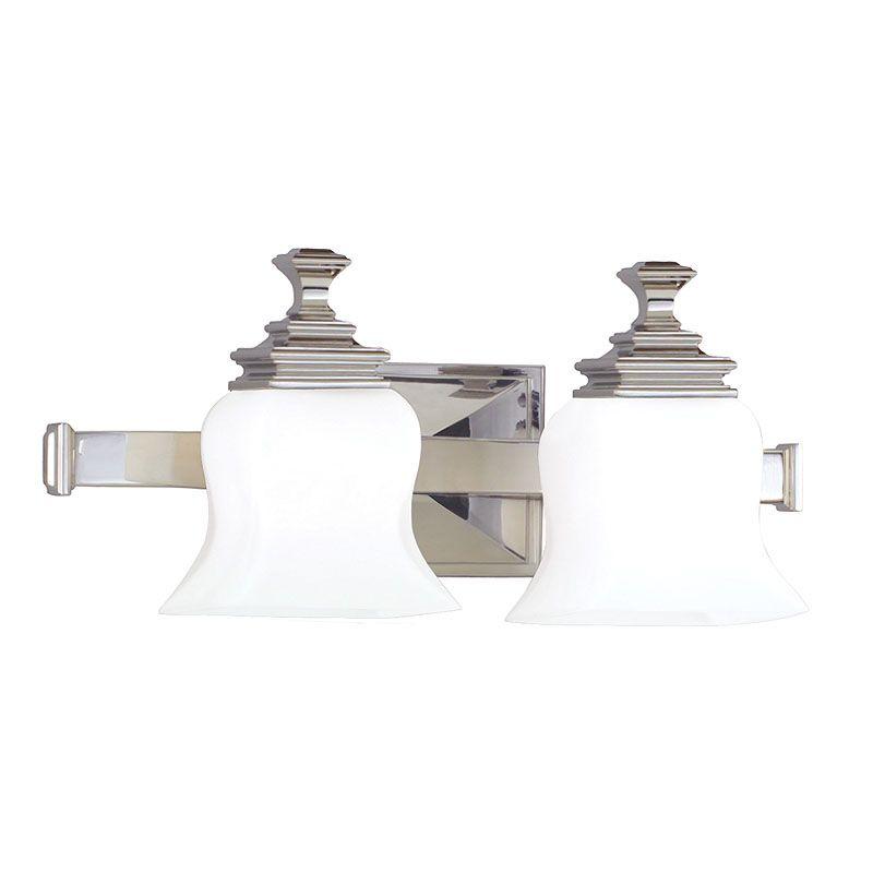 "Hudson Valley Lighting 5502 Two Light 17"" Wide Bathroom Fixture from Sale $278.00 ITEM#: 523854 MODEL# :5502-PN UPC#: 806134019501 :"