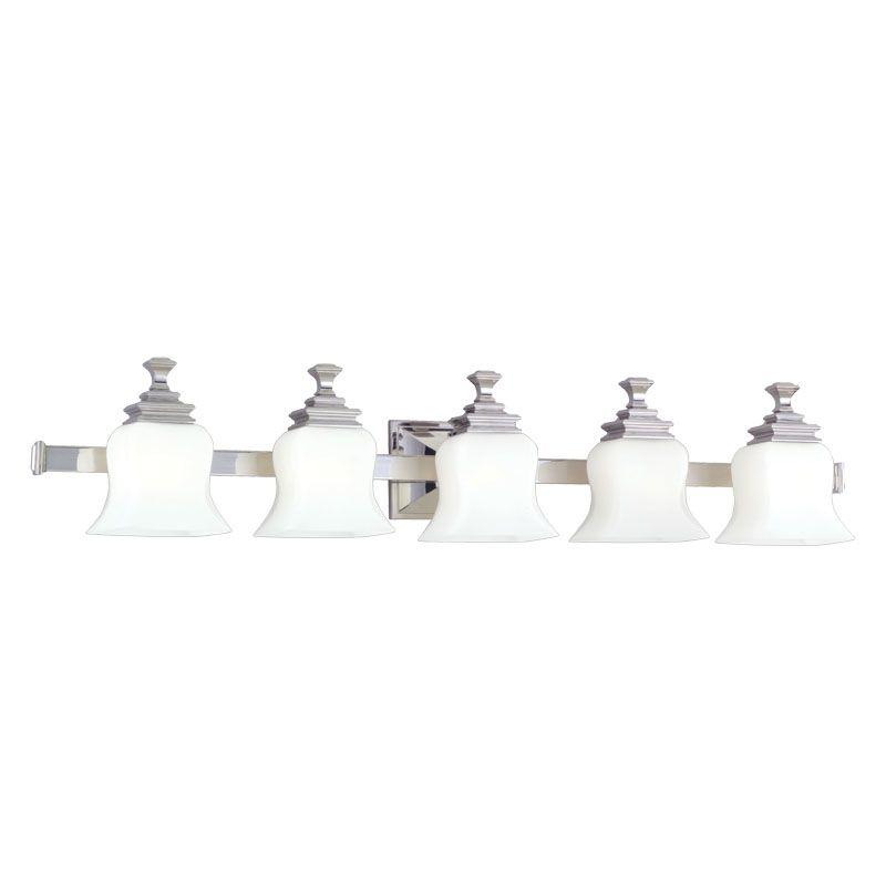 Hudson Valley Lighting 5505 Wilton 5 Light Bathroom Vanity Fixture Sale $578.00 ITEM#: 523864 MODEL# :5505-PN UPC#: 806134019594 :