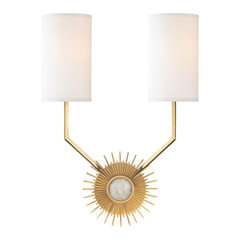 "Hudson Valley Lighting 5512 Borland 2 Light 18.25"" Wide Wall Sconce"