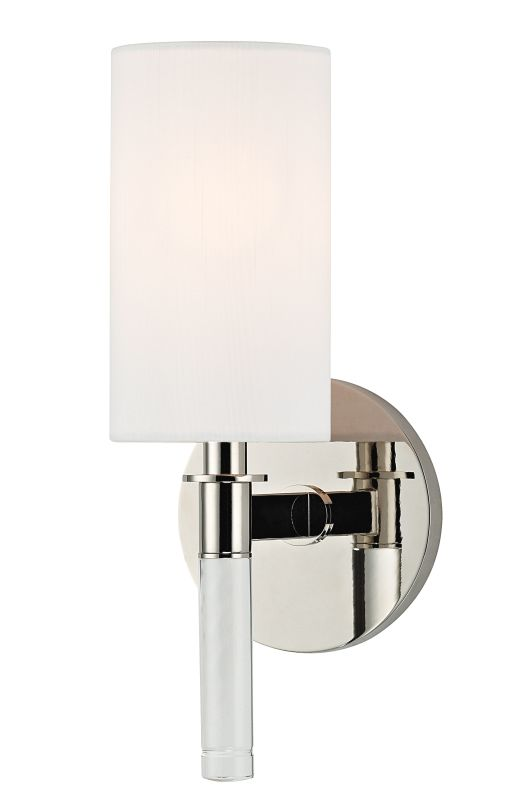 Hudson Valley Lighting 6311 Wylie 1 Light Wall Sconce Polished Nickel