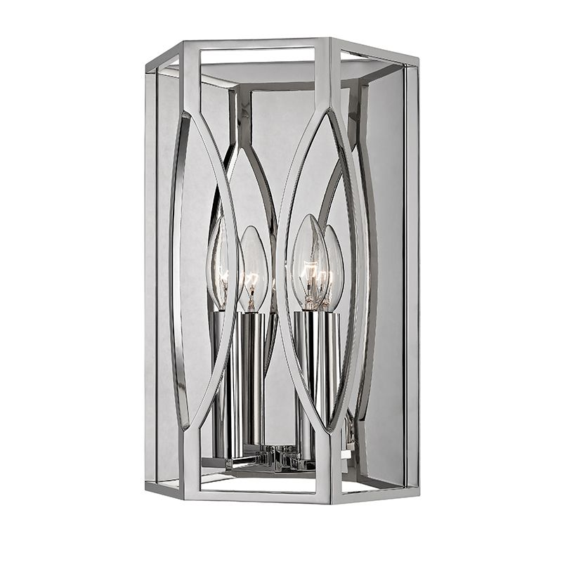 """Hudson Valley Lighting 6502 Roswell 2 Light 14"""" Wall Sconce with Metal"""
