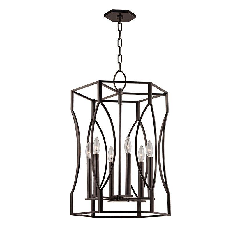 "Hudson Valley Lighting 6517 Roswell 6 Light 17"" Pendant with Tapered Sale $1790.00 ITEM#: 2679918 MODEL# :6517-OB UPC#: 806134188283 :"