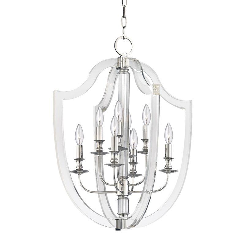 "Hudson Valley Lighting 6520 Arietta 8 Light 21.25"" Wide Pendant Sale $1799.00 ITEM#: 2880323 MODEL# :6520-PN UPC#: 806134782108 :"