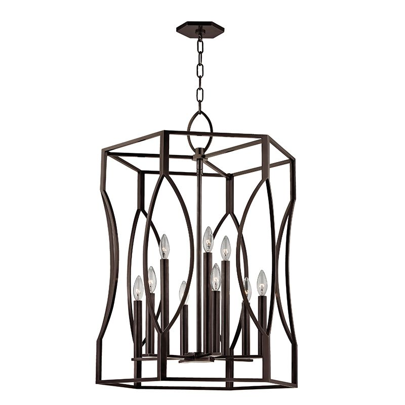 """Hudson Valley Lighting 6523 Roswell 9 Light 23"""" Pendant with Tapered"""