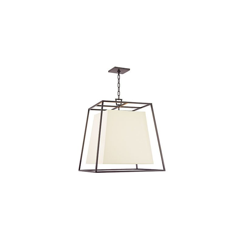 Hudson Valley Lighting 6924-WS Kyle 4 Light Pendant with White Shade