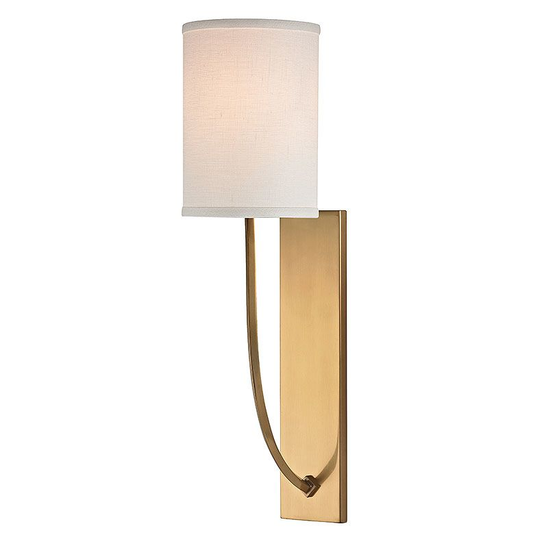 Hudson Valley Lighting 731 Colton 1 Light Wall Sconce with Linen Shade