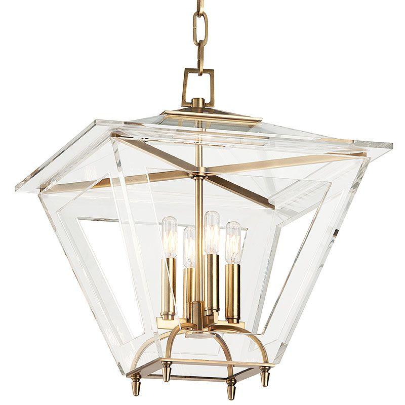 """Hudson Valley Lighting 7419 Andover 4 Light 19"""" Foyer Lantern Pendant"""