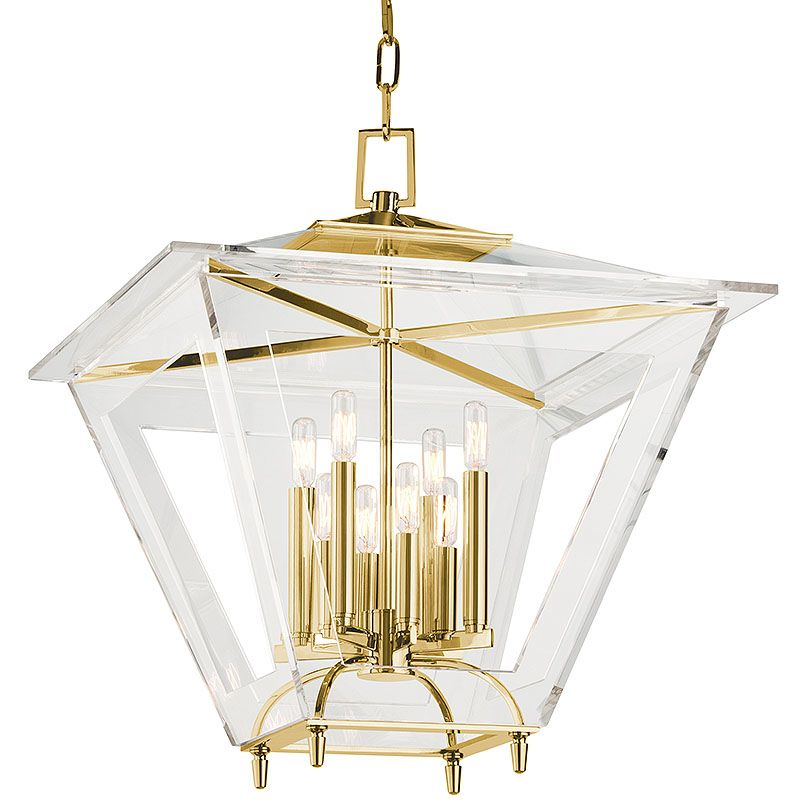 Hudson Valley Lighting 7424 Andover 8 Light Foyer Lantern Pendant with Sale $1140.80 ITEM#: 2402203 MODEL# :7424-AGB UPC#: 806134178055 :