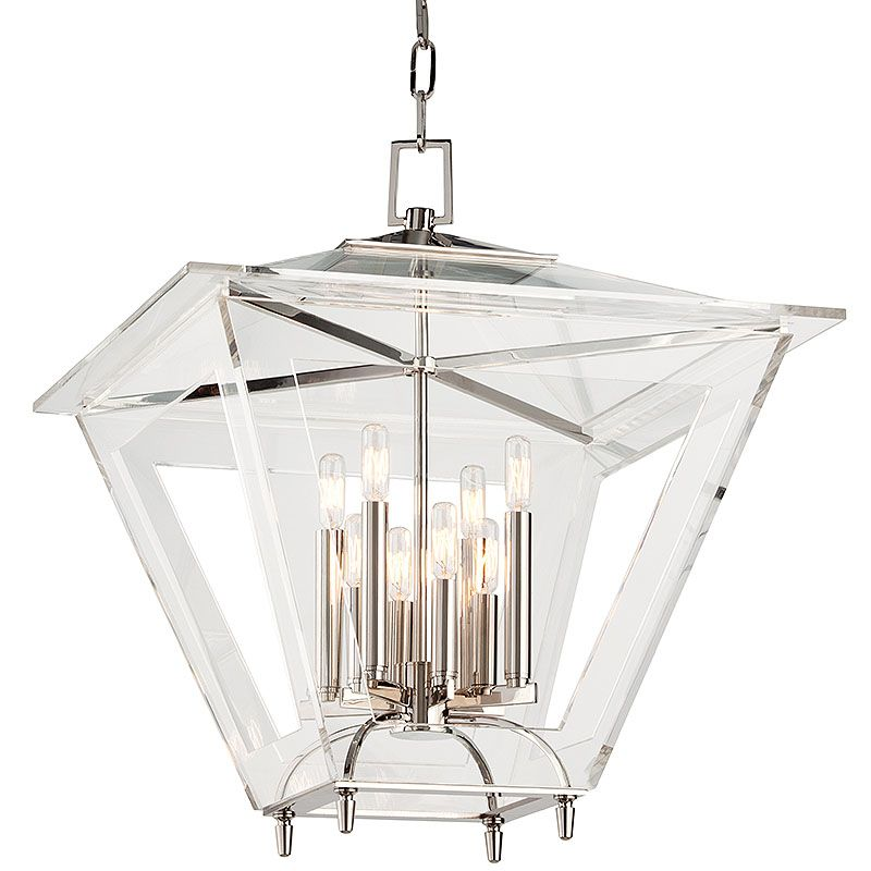 Hudson Valley Lighting 7424 Andover 8 Light Foyer Lantern Pendant with Sale $1140.80 ITEM#: 2402204 MODEL# :7424-PN UPC#: 806134178062 :