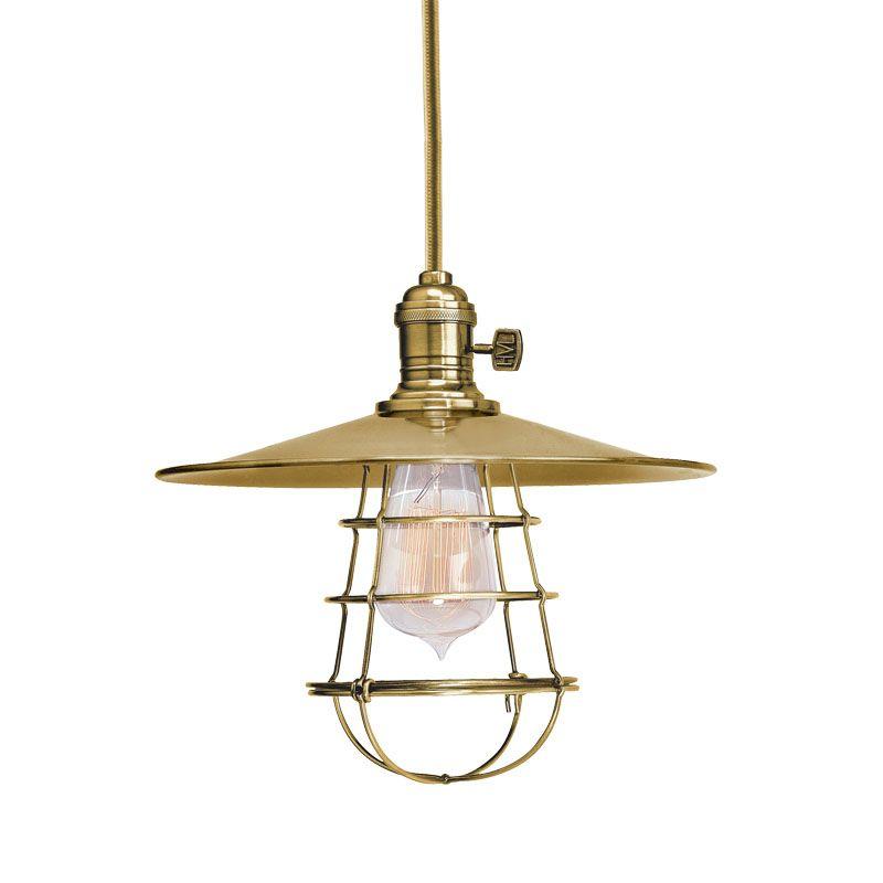 Hudson Valley Lighting 8001-MS1-WG Heirloom 1 Light Pendant Aged Brass