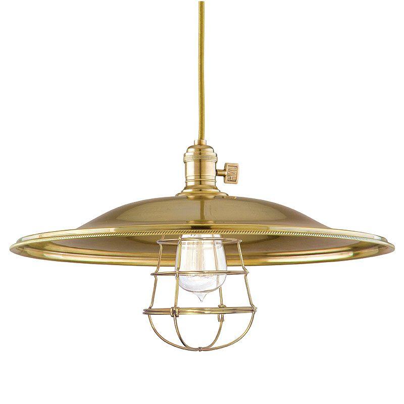 Hudson Valley Lighting 8002-ML2-WG Heirloom 1 Light Pendant Aged Brass