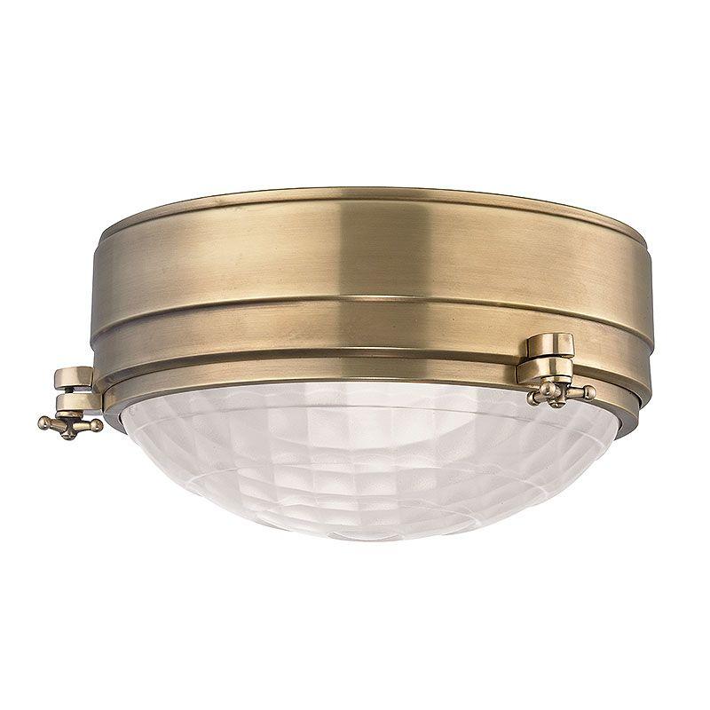 """Hudson Valley Lighting 8009 Belmont 2 Light 9"""" Flush Mount Ceiling"""