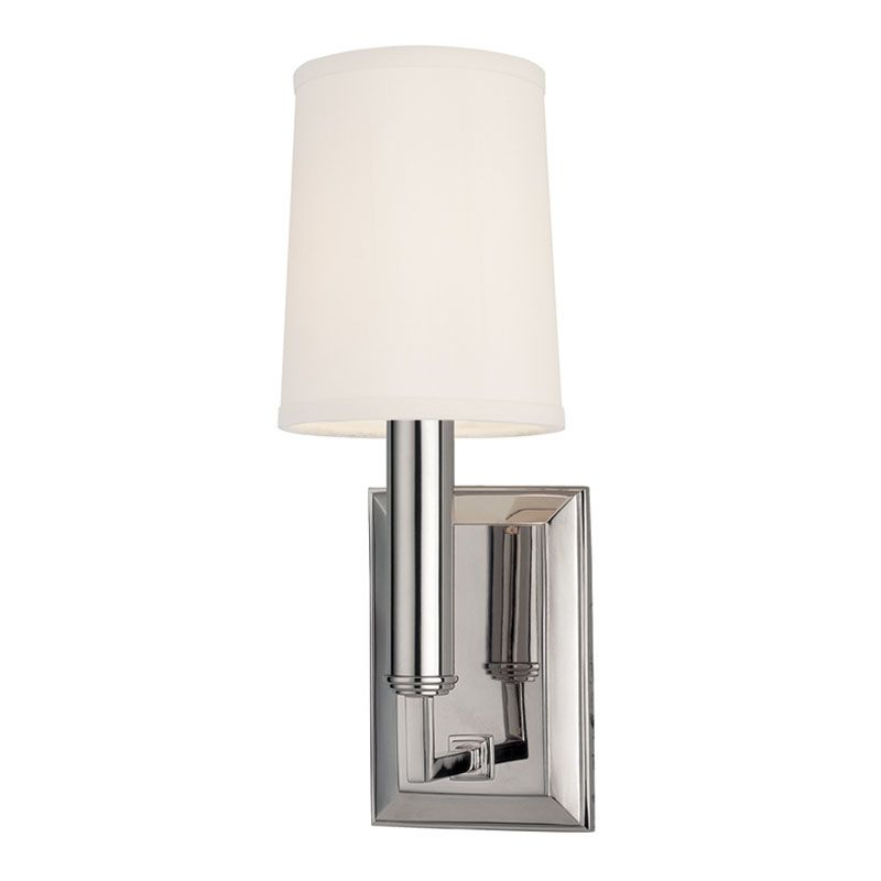 Hudson Valley Lighting 811 Clinton 1 Light Wall Sconce Polished Nickel