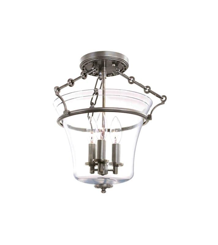 Hudson Valley Lighting 830 Three Light Up Lighting Semi Flushmount