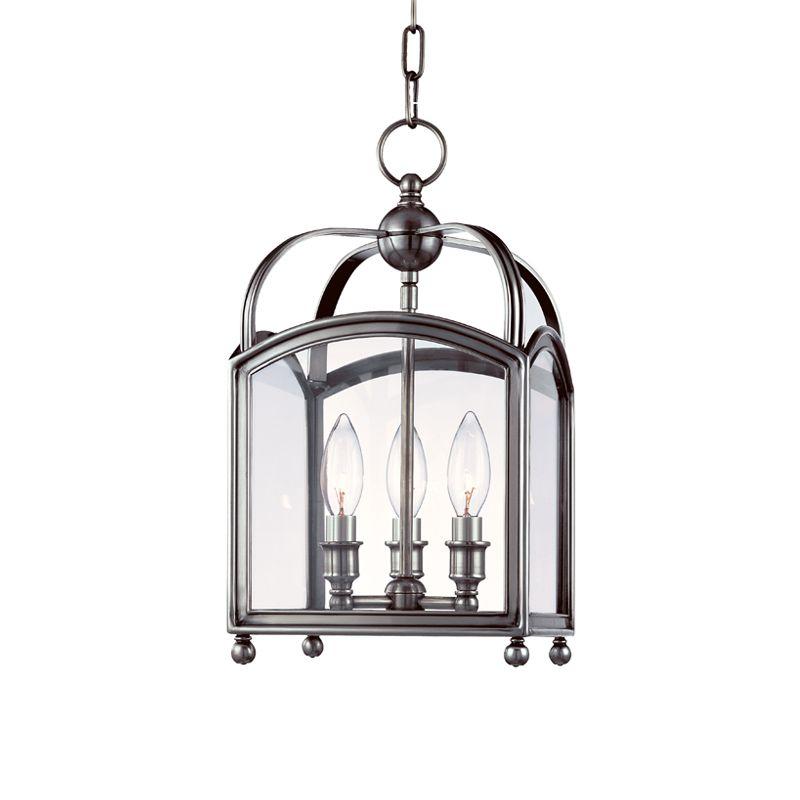 Hudson Valley Lighting 8409 Three Light Up Lighting Enclosed Mini Sale $846.00 ITEM#: 1737723 MODEL# :8409-PN UPC#: 806134116224 :