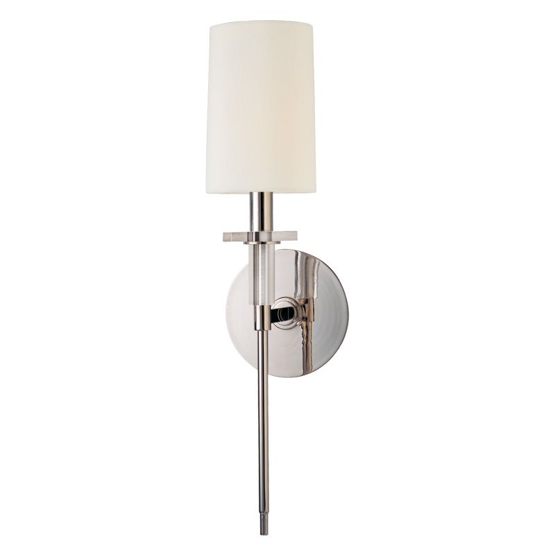 Hudson Valley Lighting 8511 Amherst 1 Light Wall Sconce with Faux Silk
