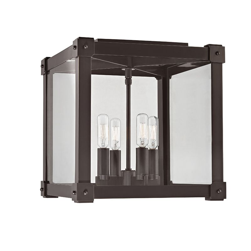 "Hudson Valley Lighting 8600 Forsyth 4 Light 10"" Flush Mount Ceiling"