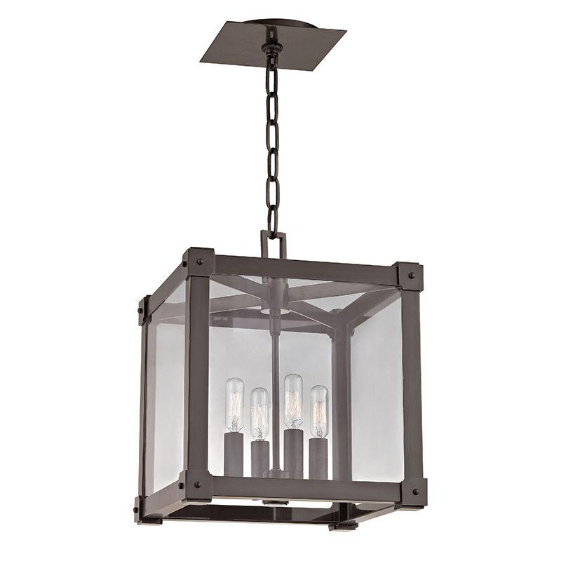 "Hudson Valley Lighting 8612 Forsyth 4 Light 12"" Square Pendant With"
