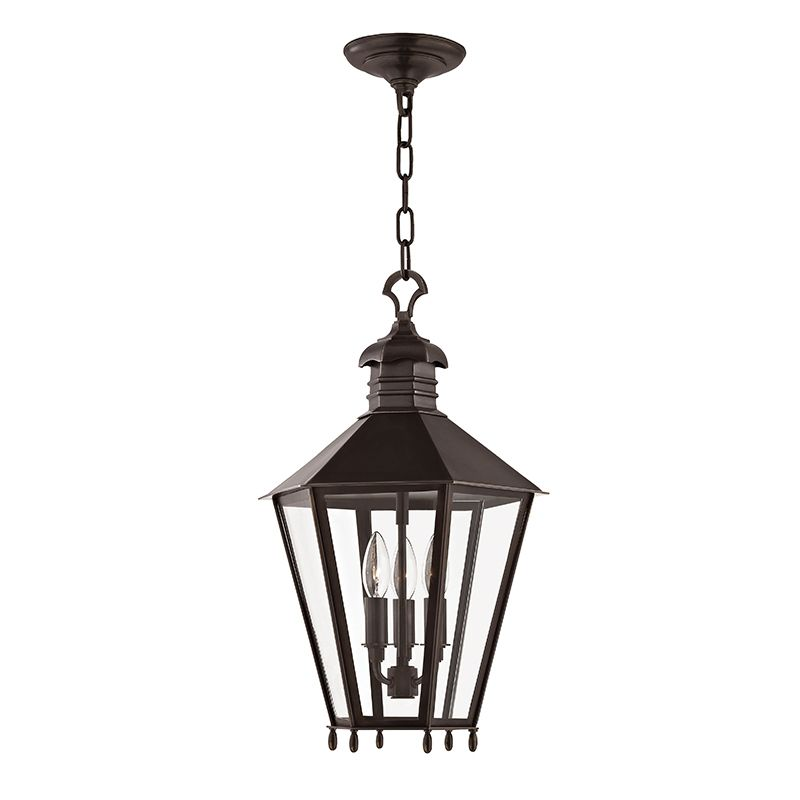 "Hudson Valley Lighting 8813 Barstow 3 Light 20"" Lantern Pendant with"