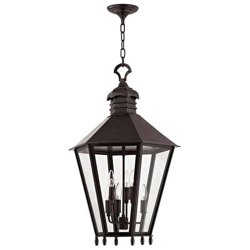 "Hudson Valley Lighting 8819 Barstow 6 Light 30"" Lantern Pendant with"